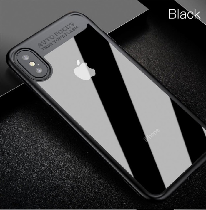 quality design 7be68 7bfb7 Jual CLEAR AUTO FOCUS iPhone X - 7 8 - 7 8 Plus case back cover transparan  - Hitam - Jakarta Barat - Casing handphone murah | Tokopedia