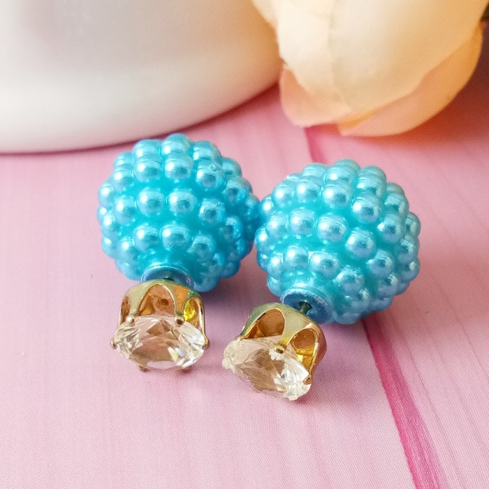 EE0053 - Anting double pearl candy stud