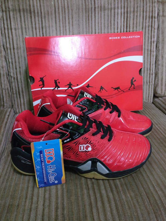 Jual Sepatu Badminton Hiqua Hi Qua Grandprix Red Black Original ... 8abad299c8