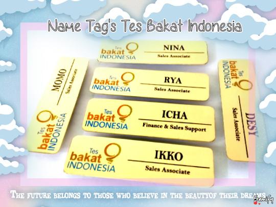harga Name tag gold bakat indonesia Tokopedia.com