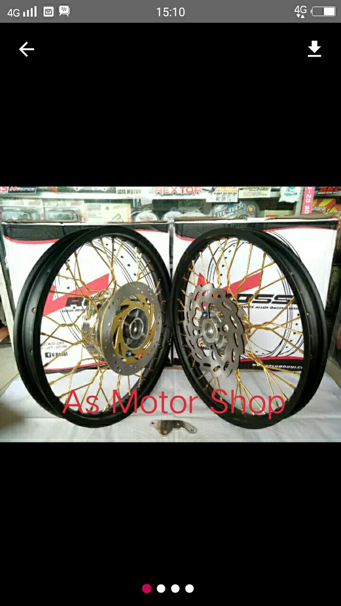 harga Sepaket velg rossi 140 -140 x17 tromol plus piringan jari2 ninja r rr Tokopedia.com