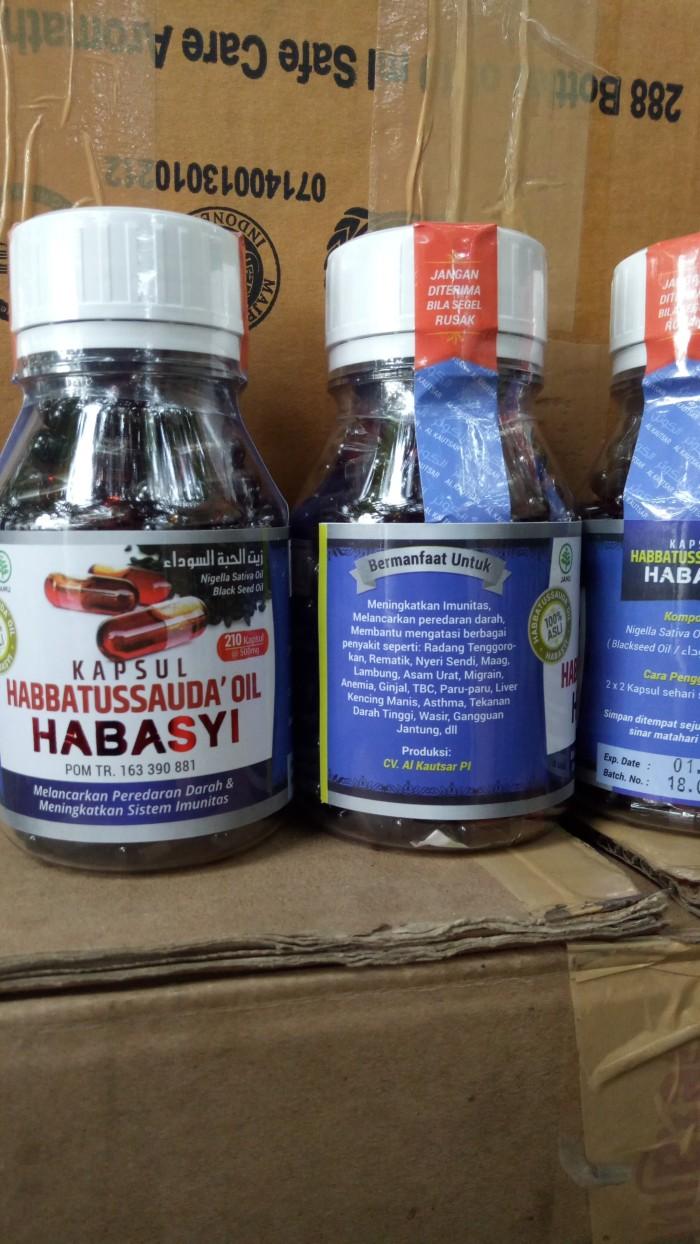 Jual Habbasyi Oil Minyak Habbatusauda Habasyi Alazhar Herbal 210 Kapsul