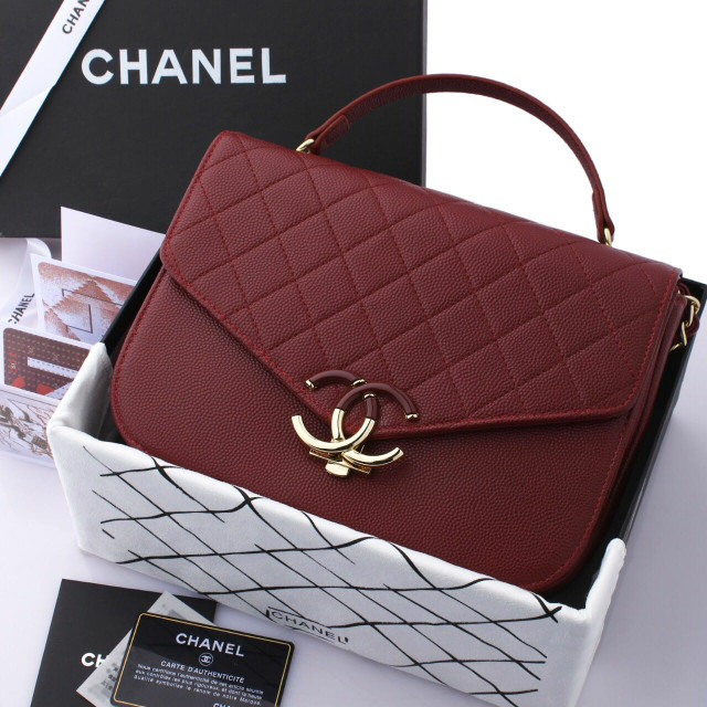 bb96d8b1b5a8 Jual CHANEL FLAP CC BAG WITH BOX WS9811 - dhaffy collection   Tokopedia