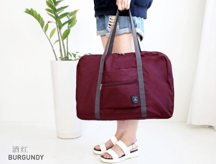 Tas lipat tas belanja lipat easy travel korean foldable bag