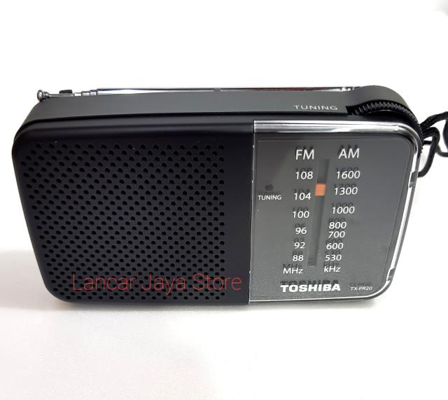 Radio Toshiba TX-PR20 Hitam Portable Radio Toshiba TX-PR20