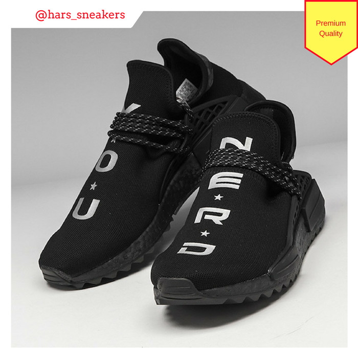 1791a3ff4a20a Jual Sepatu Adidas Nmd Human Race Trail x Nerd Black White Premium ...