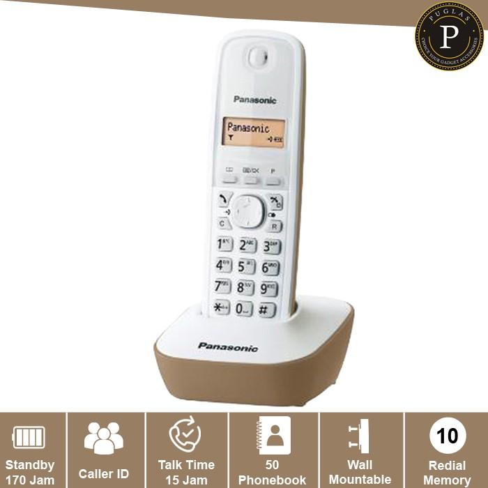 harga Telepon wireless panasonic kx-tg1611 - beige / telephone kantor rumah Tokopedia.com