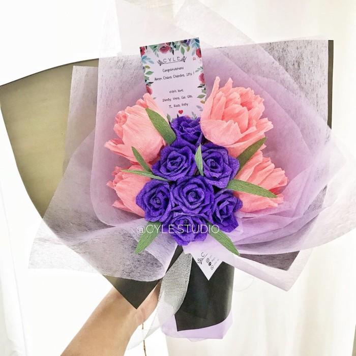 Jual Hand Bouquet Wisuda Valentine Anniv Paper Flower Kota Tangerang Cyle Studio Tokopedia