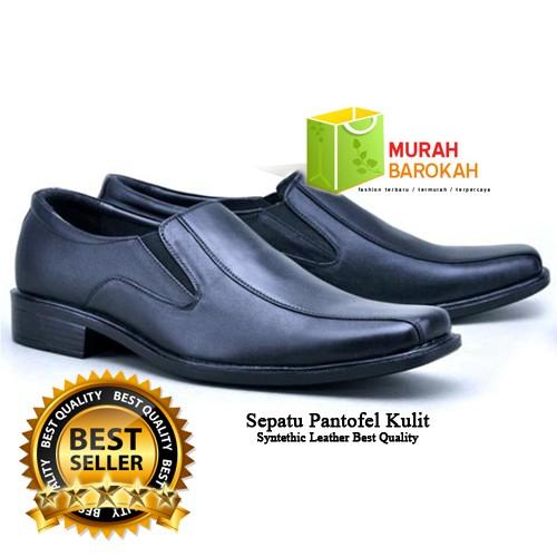 Sepatu Kerja Pantofel Kantor Formal Pria Kulit Sintetis