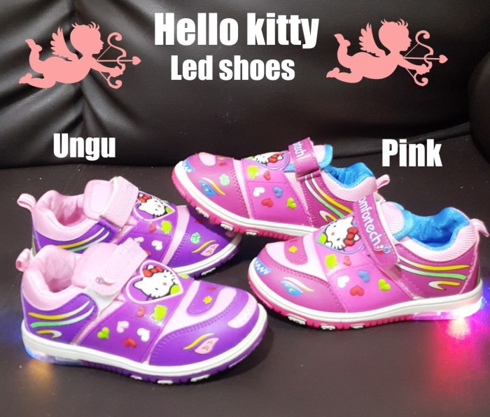 harga Sepatu Anak Perempuan Hello Kitty Led 2 Warna Tokopedia.com