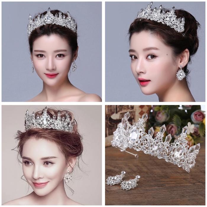 Foto Produk Mahkota rambut tiara wedding crown rambut pesta pengantin CC0100C dari bumer shop