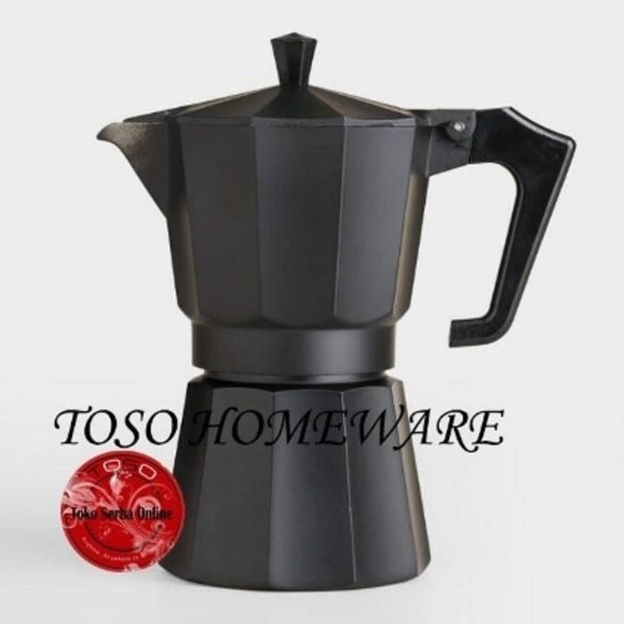 harga Black matte moka pot alumunium 6 cup mokapot coffee espresso kopi Tokopedia.com