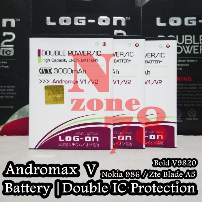 Baterai hp bolt zte v9820 4g powerphone rakkipanda double power