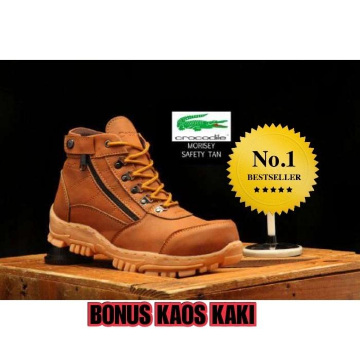 Jual Sepatu Pria Crocodile Morisey Safety Boots Tan - Sepatu Kerja ... 8f381178ff