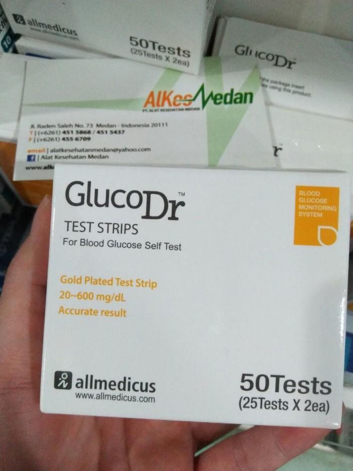 harga Refill gluco dr strip biosensor bio sensor 50 pcs / box glucodr Tokopedia.com