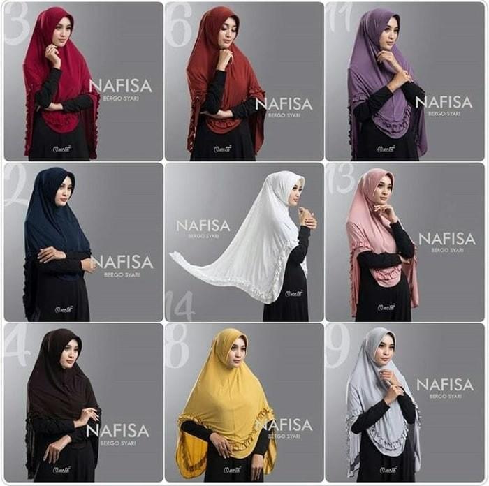 Jual Hijab Wanita Jilbab Instan Bergo Nafisa Kota Bandung Shopee Shopping Tokopedia