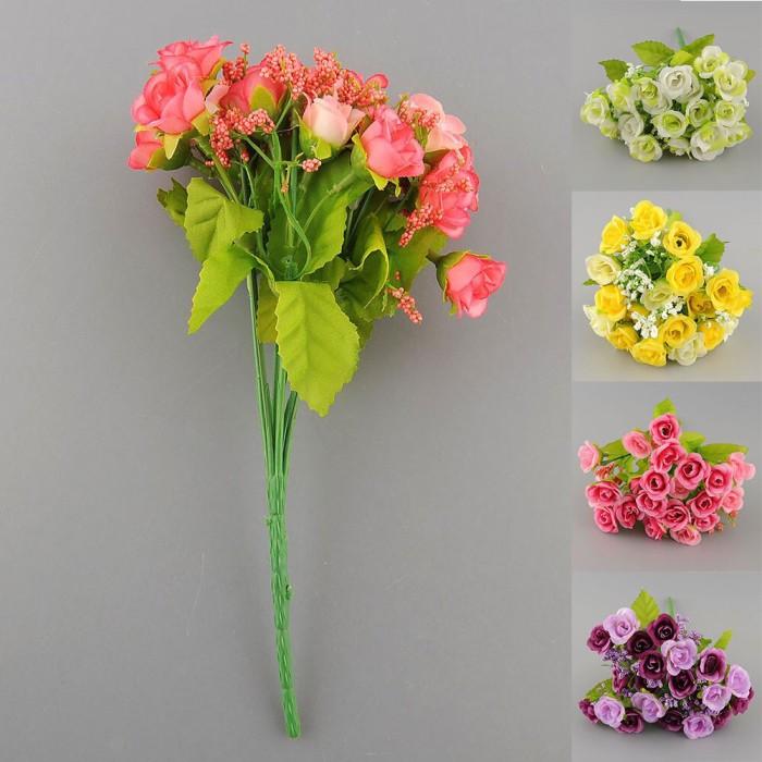 Jual Atificial flower Buket bunga mawar mini - bunga mawar plastik ... a9f2c8a5ef
