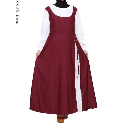 Pakaian Wanita Baju Gamis Dress Muslim Katun Polos