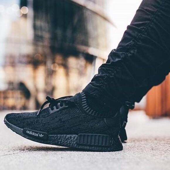 nmd adidas pitch black