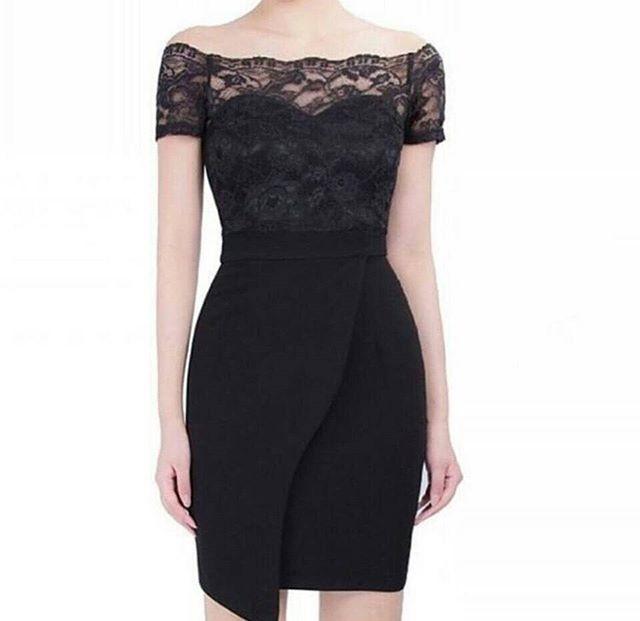 harga Mini dress scuba kombinasi soft brukat hitam Tokopedia.com