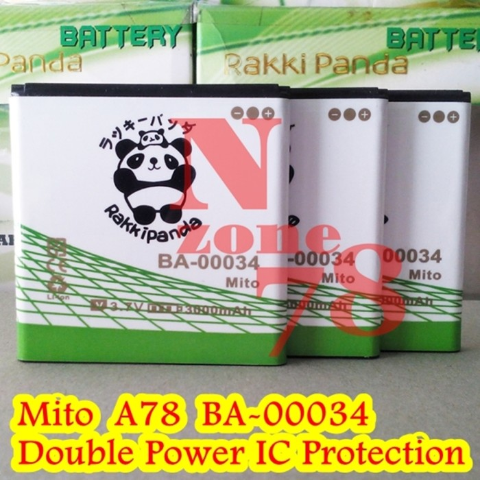 Battery mito a78 ba-00034 imo s78 double power protection