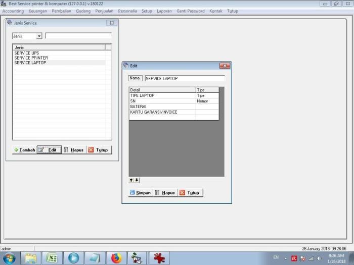 harga Aplikasi / software service center bisa custom Tokopedia.com