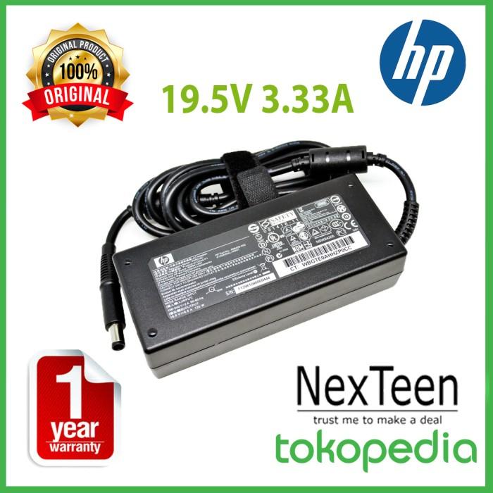 harga Original adaptor hp 19.5v 3.33a jarum for hp 19 21 22 23 pc all-in-one Tokopedia.com