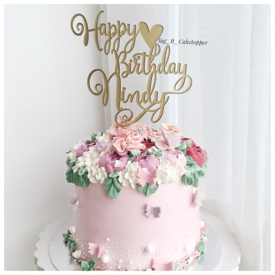 Pleasant Custom Happy Birthday Cake Topper Custom Birthday Cake Topper Personalised Birthday Cards Veneteletsinfo