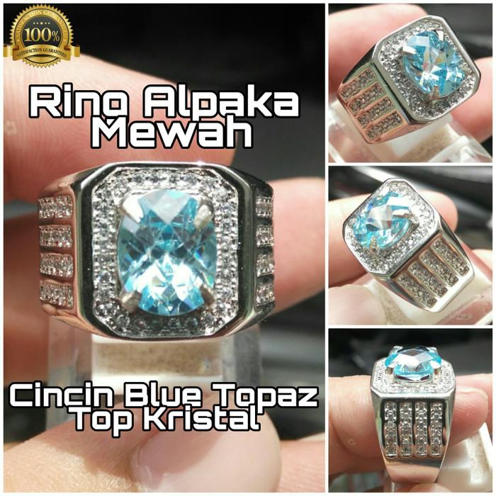 harga Cincin swiss blue topaz ring alpaka mewah Tokopedia.com