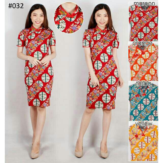 Toko Pedia Baju Batik: Jual Dress Batik Modern 159/Cheongsam/Chongsam
