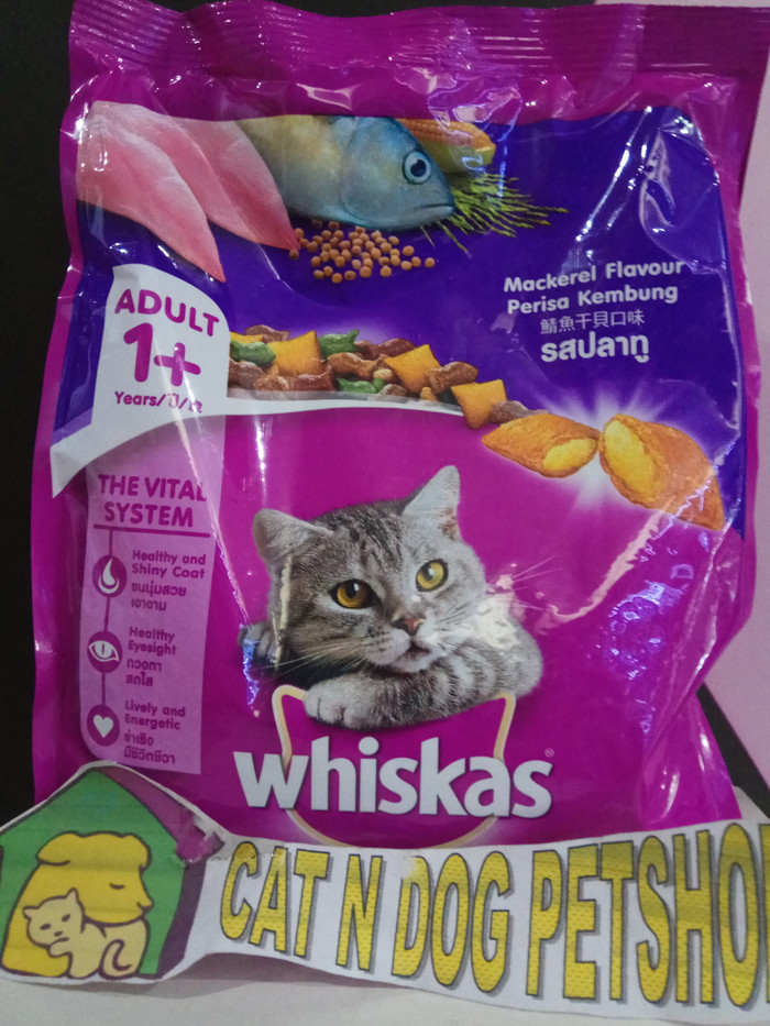 ... Whiskas Adult Mackerel Ikan Kembung 480gr Makanan Kucing