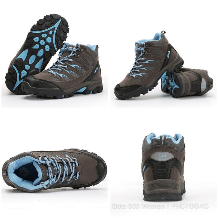 Jual Sepatu Hiking  Sepatu Gunung SNTA 605 Women Series Grey Blue ... fcf72026dd
