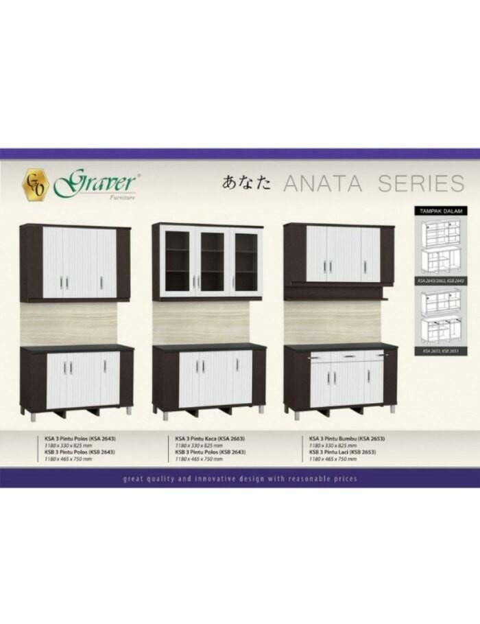 Rak Kitchen Set Atas 3 Pintu KSA 2653
