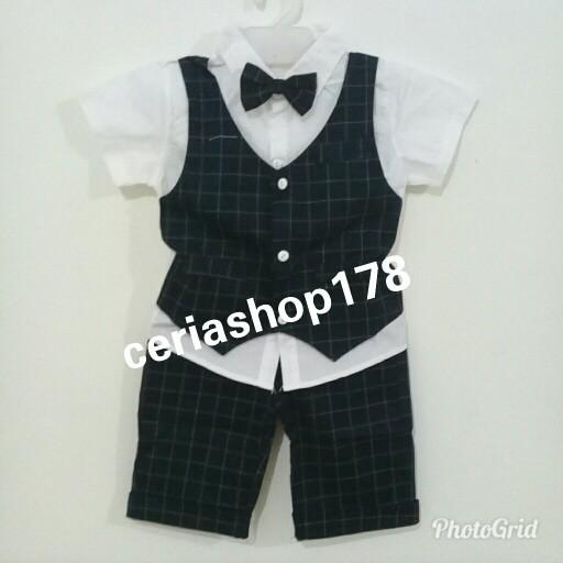harga Baju rompi anak import setelan anak cowok fashion set tuxedo dasi lucu Tokopedia.com