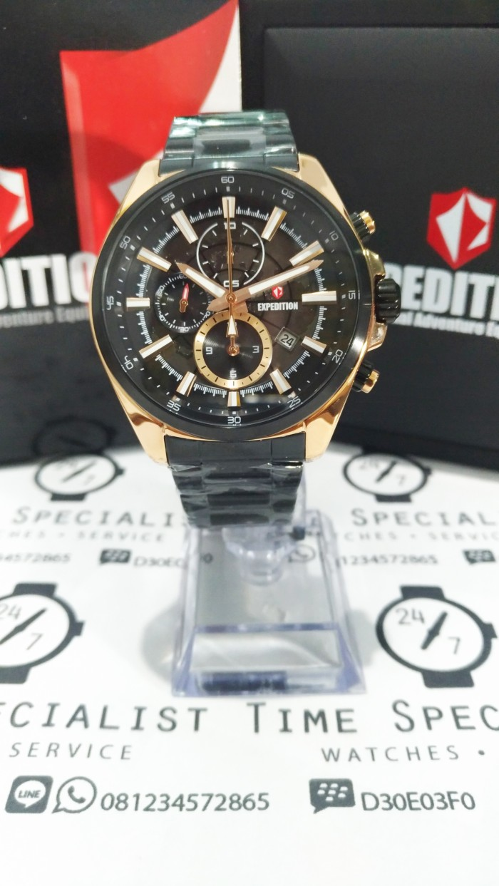 Harga Jual Jam Tangan Expedition E 6681 Rantai Black Original E6392 Rose Gold Men 6743 Mc Garansi 1 Th