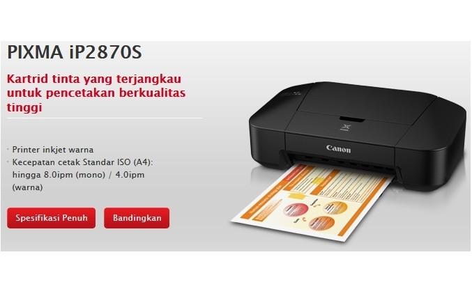 harga Printer inkjet canon ip2870s Tokopedia.com