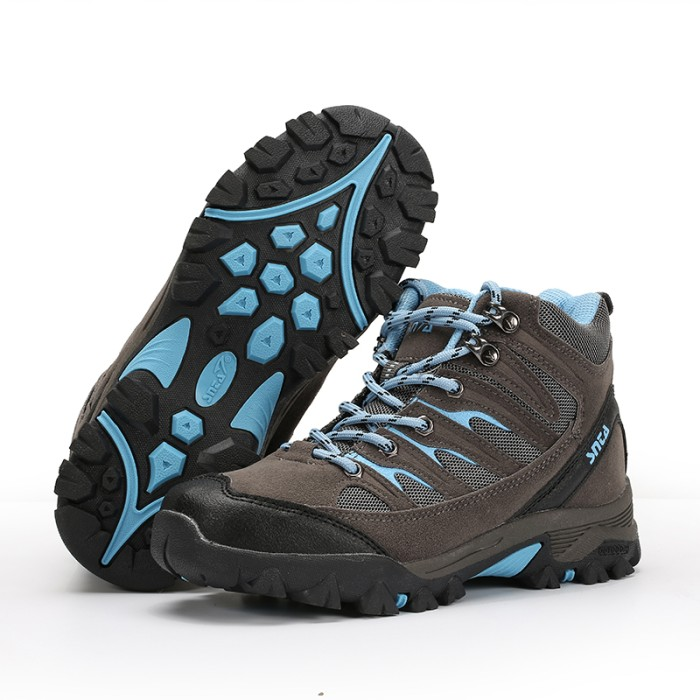 Sepatu Gunung Wanita SNTA 605 Grey Blue Trekking   Hiking   Outdoor d2d5162d8b