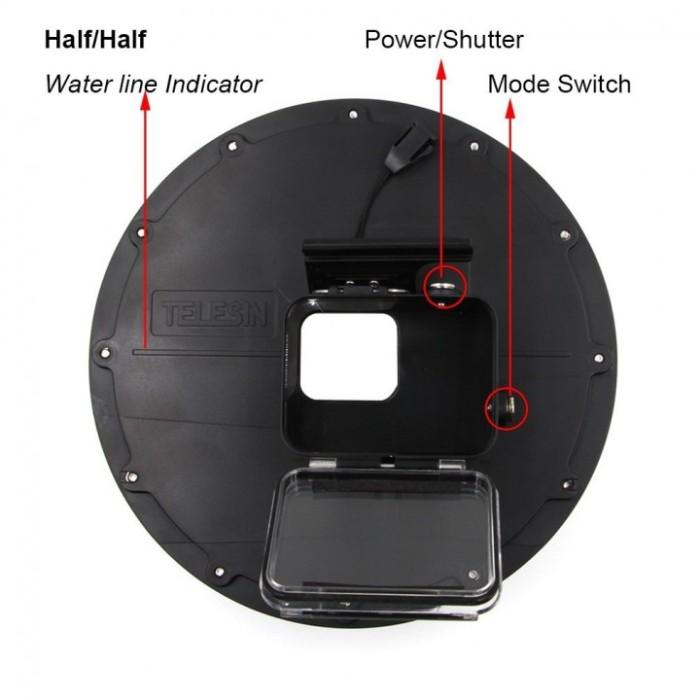 harga 6 inch dome port waterproof diving case trigger for gopro hero 5 - 6 Tokopedia.com