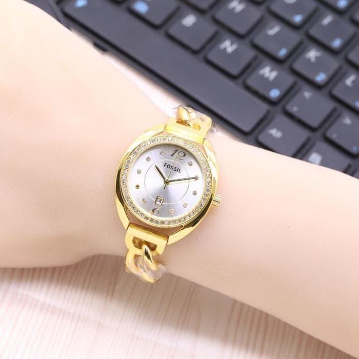 Jam Tangan LED Jam Tangan Pria dan Wanita Strap Karet Abu abu Emas. Source ·
