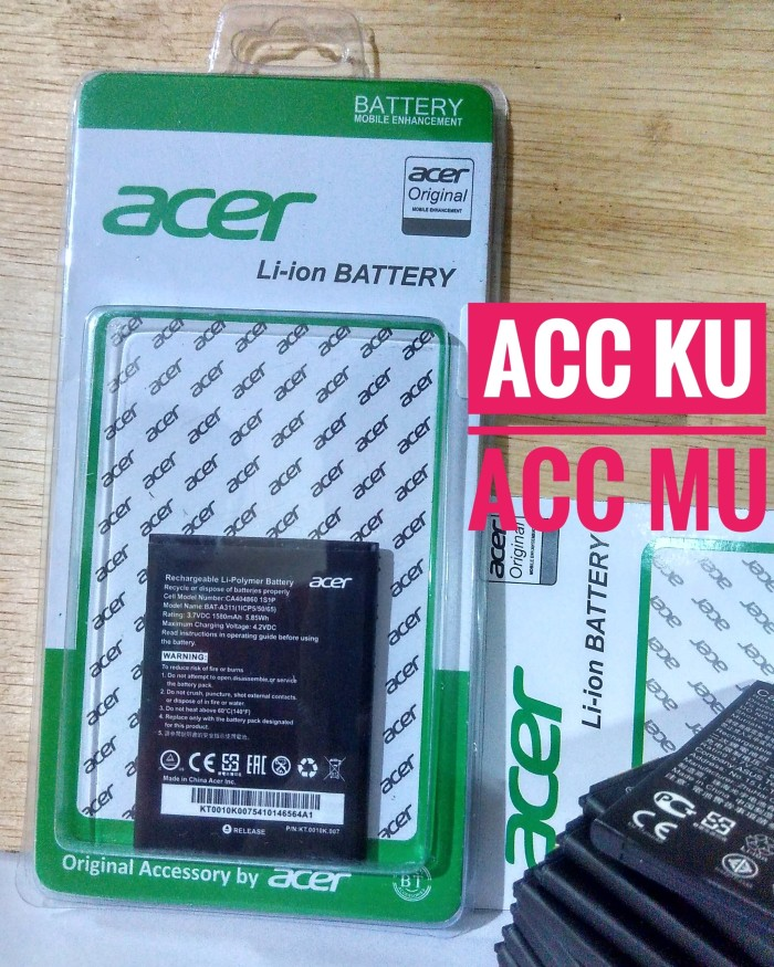 d41429a136c ... harga Baterai battery acer liquid z200-a311-z220-m220 high quality  Tokopedia.