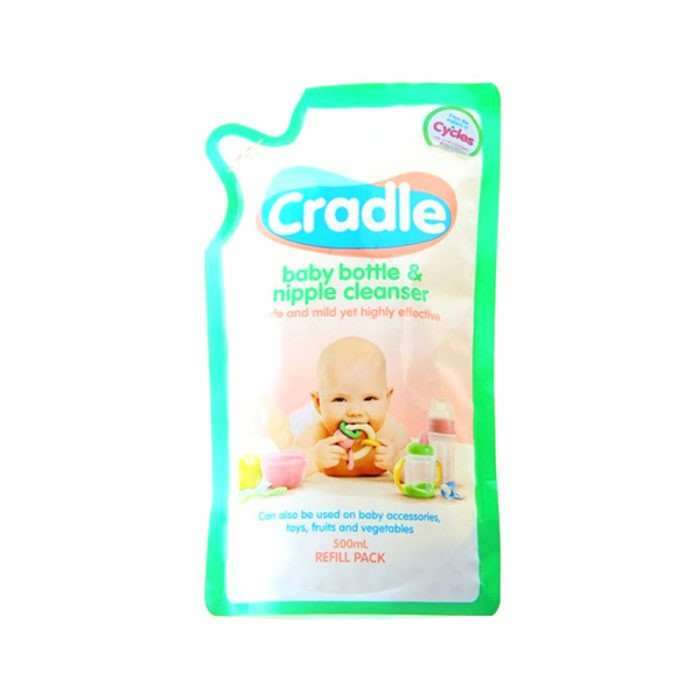 harga Cradle baby bottle & nipple cleanser refill 500ml sabun cuci botol Tokopedia.com