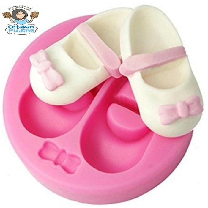 1 pc cetakan puding silikon bentuk baby shoes
