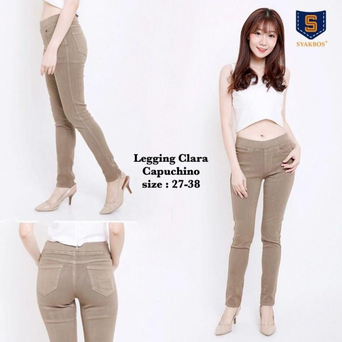 Celana Jeans Panjang Wanita LEGGING CLARA Capuchino (35-38