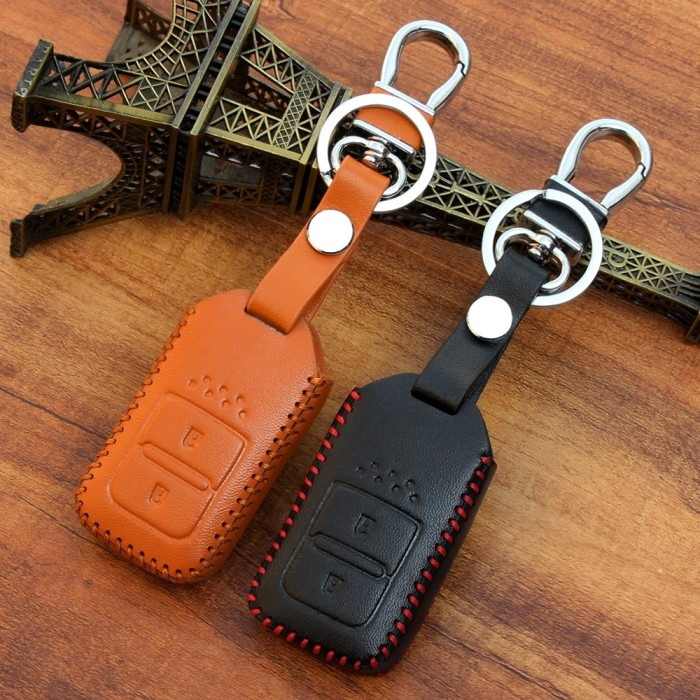 Key cover / sarung kunci kulit leather honda hrv new jazz all… Mobil : Aksesoris