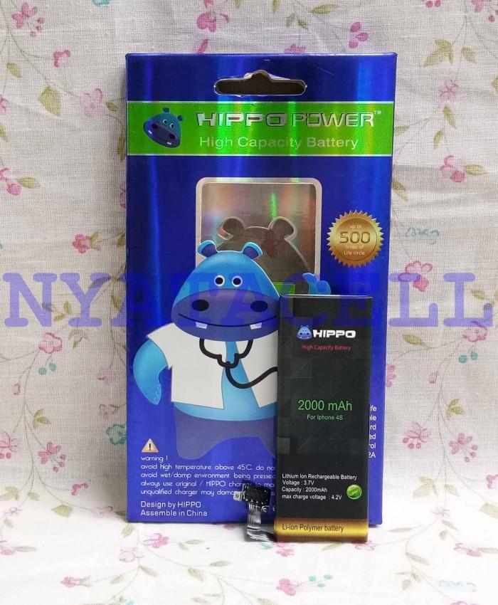 harga Baterai hippo iphone 4 4s 2000mah double power /batre/original/ip4 Tokopedia.com