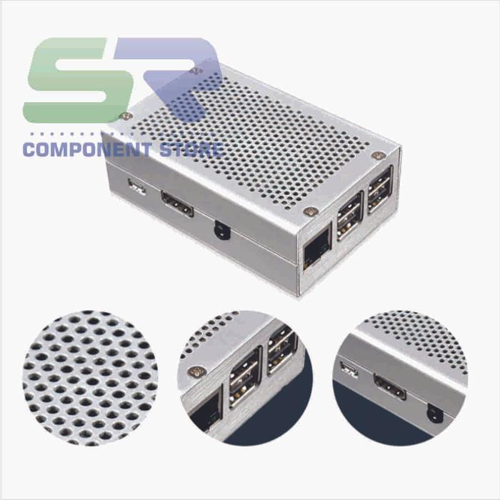 harga Metal case silver / enclosure raspberry pi 3 / pi 2 model b b+ Tokopedia.com