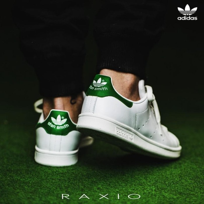 jual sepatu scarpe casual adidas stan smith bianco verde originale