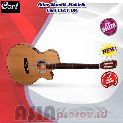 Gitar Akustik Elektrik Cort CEC1 OP / CEC1OP / CEC1-OP / CEC 1
