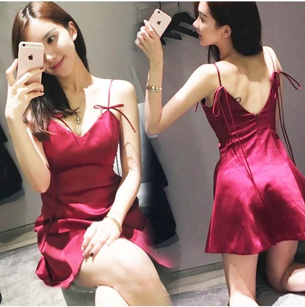 harga Jes-ps0846 mini dress satin sexy import korea-party dress-gaun pesta Tokopedia.com