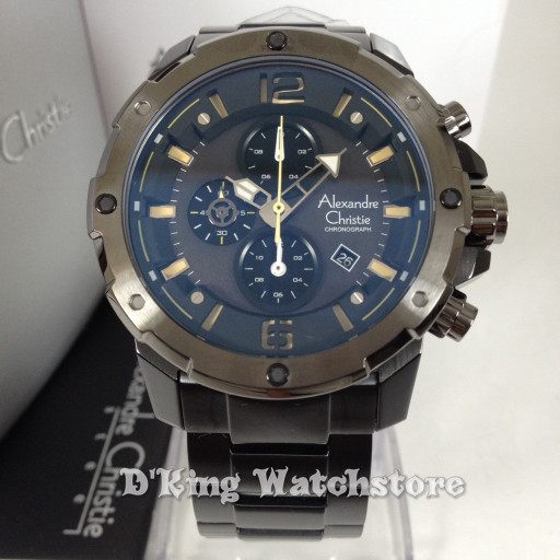 jam tangan pria alexandre christie 6410 original(fossil, expedition)
